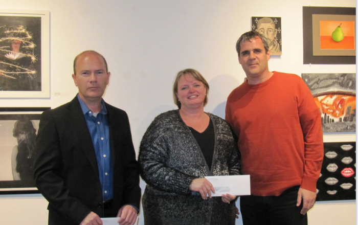 Calbeck Family Fund grant presented by Lance Calbeck.