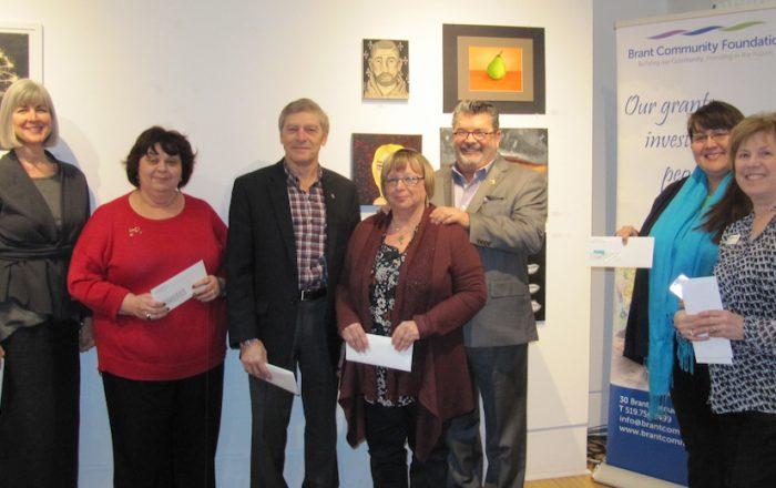 Kids sector grants presented to area charitiy representatives.